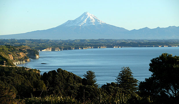 LOOMING LARGE: Mt Taranaki presides over Taranaki, home of the samurai summer.