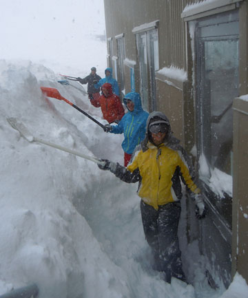 BIG FALL: More than a metre of snow has fallen at a Canterbury skifield over the past week.
