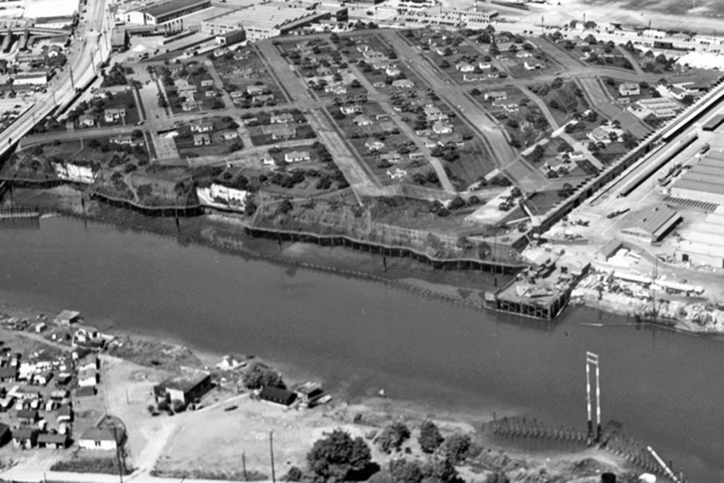 SHHH: Boeing Plant 2, hidden under its suburban camouflage in 1945.