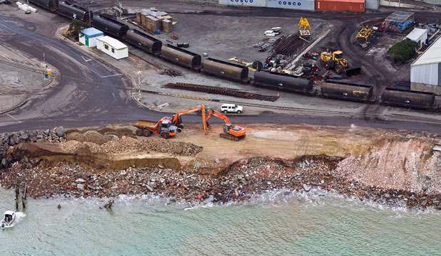 NO APOLOGIES: Lyttelton Port managed to reclaim 10 hectares under emergency laws instead of the 29ha it wanted.