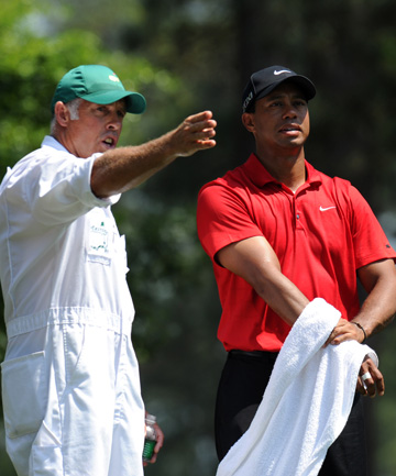 IT'S OVER: The dream team of Steve Williams and Tiger Woods spent 13 years together.