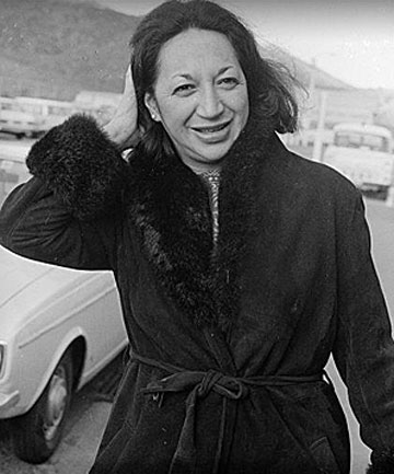 GREAT LEADER: Whetu Tirikatene-Sullivan on her return from International Women's Year conference, 5 July 1975.