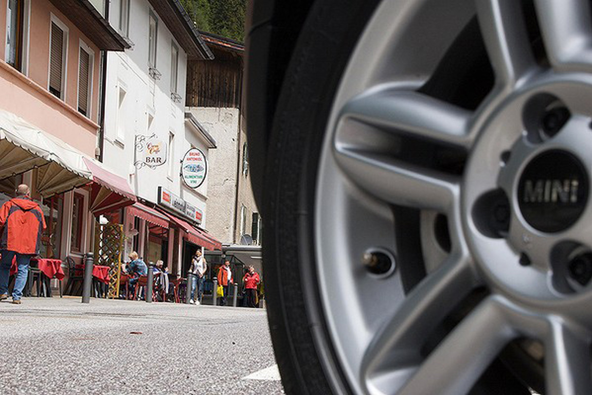 The Mini Cooper is off on a one-tank, country-crunching jaunt through Europe.