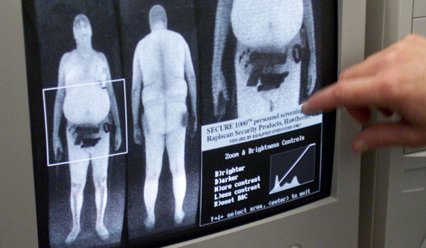 "UNCLOTHED IMAGE: Customs says the scan  ""does reveal anatomical details''."