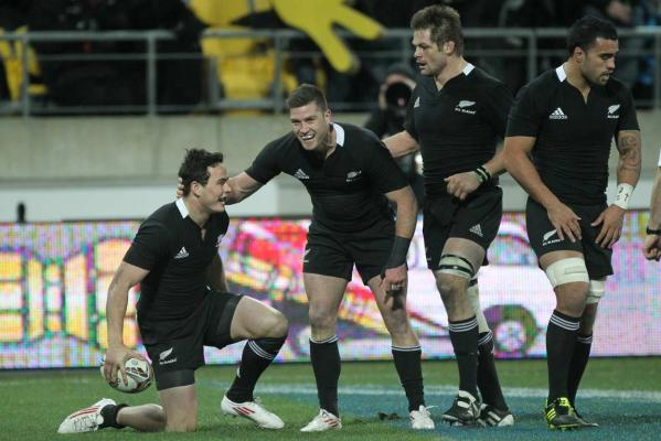 Zac Guildford, Cory Jane, Richie McCaw and Liam Messam