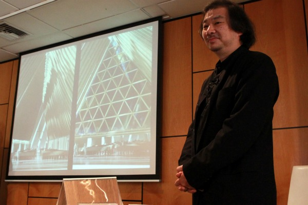 "Japanese architect, Shigeru Ban, has designed a ""temporary"" cathedral for Christchurch."