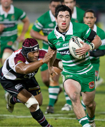 TURBO CHARGED: Nehe Milner-Skudder looks dangerous during Manawatu's come-from-behind defeat of North Harbour in Palmerston North.