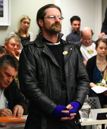 BIKE POWER: About 50 motorcyclists protested proposed parking fees at a Wellington City Council committee meeting.