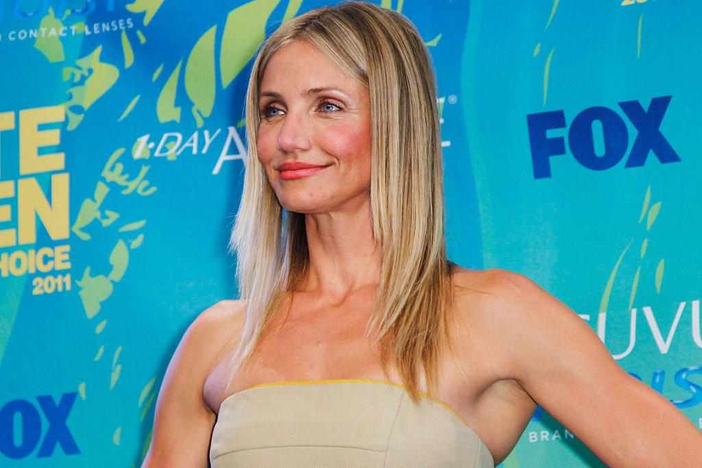 FOREVER YOUNG: Cameron Diaz arrives at the Teen Choice Awards in Los Angeles.