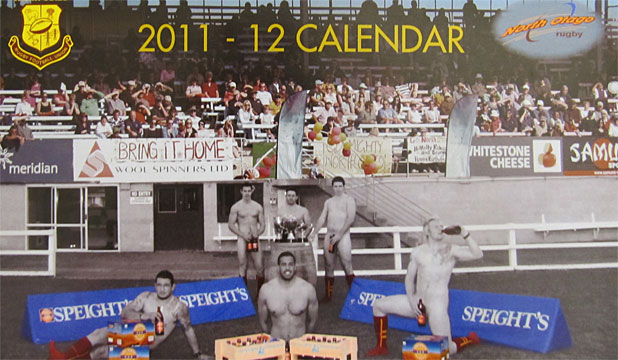 "CONTROVERSIAL CALENDAR: The Alcohol Advisory Council says the North Otago Rugby Union's latest calendar looks like ""a low-cost Speight's beer promotion rather than a sporting club fundraiser''."