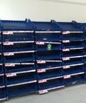 'Our local Countdown has completely emptied of skimmed milk, bread, mince, and other empty shelves all over the place. Not even the earthquake caused this much panic buying.'