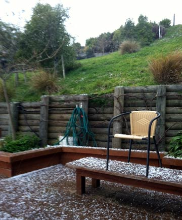COLD FRONT: Hail has started to fall in some parts of the Christchurch.