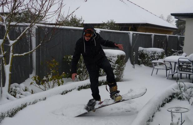 Halswell snowboarding