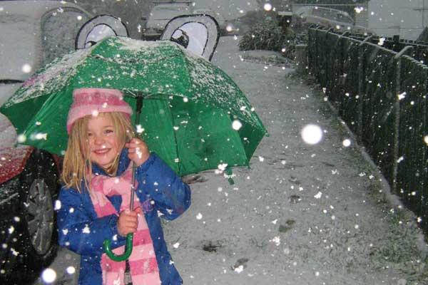 Abby (4) enjoying the snow in Newlands.