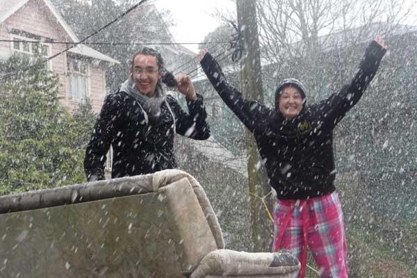 Emma Fotheringhame sent this picture of snow in Mount Cook.