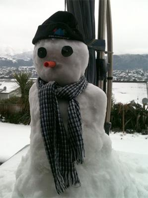A snow Geoff built for his grand kids in Riverstone.