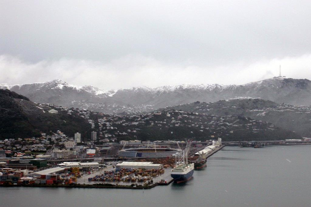 A photo taken from Mt Victoria on Monday about 10am after a snow dump.