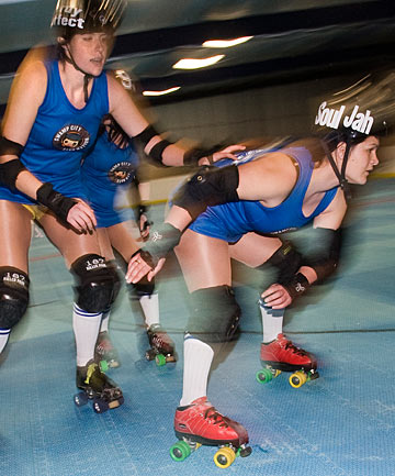 Pretty brutal: The Roller City Swamp Rats train at Leisureplex.