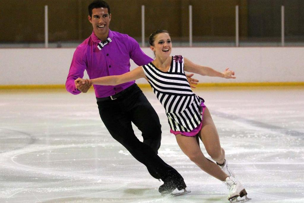 Canadian pair Paige Lawrence and Rudi Sweigers perform during the figure skating gala in Dunedin.