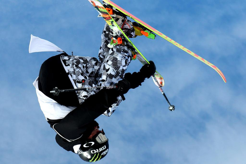 At Cardrona Alpine Resort on Saturday, the Freeski Big Air Mens final. Pictured in action is Jossi Wells of Wanaka, NZ, placed third overall in the event.
