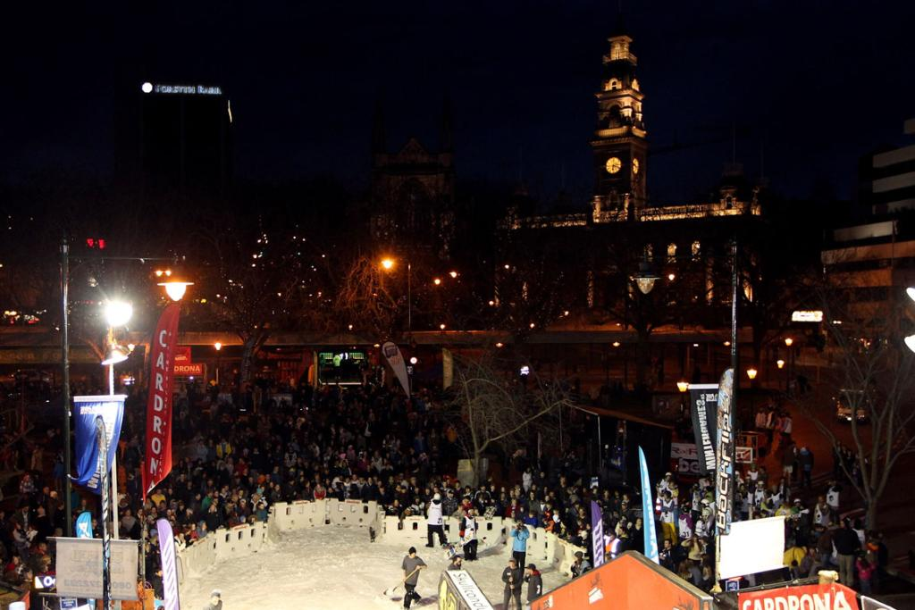 General view at the Dunedin Rail Jam, which is part of the Winter Games NZ.