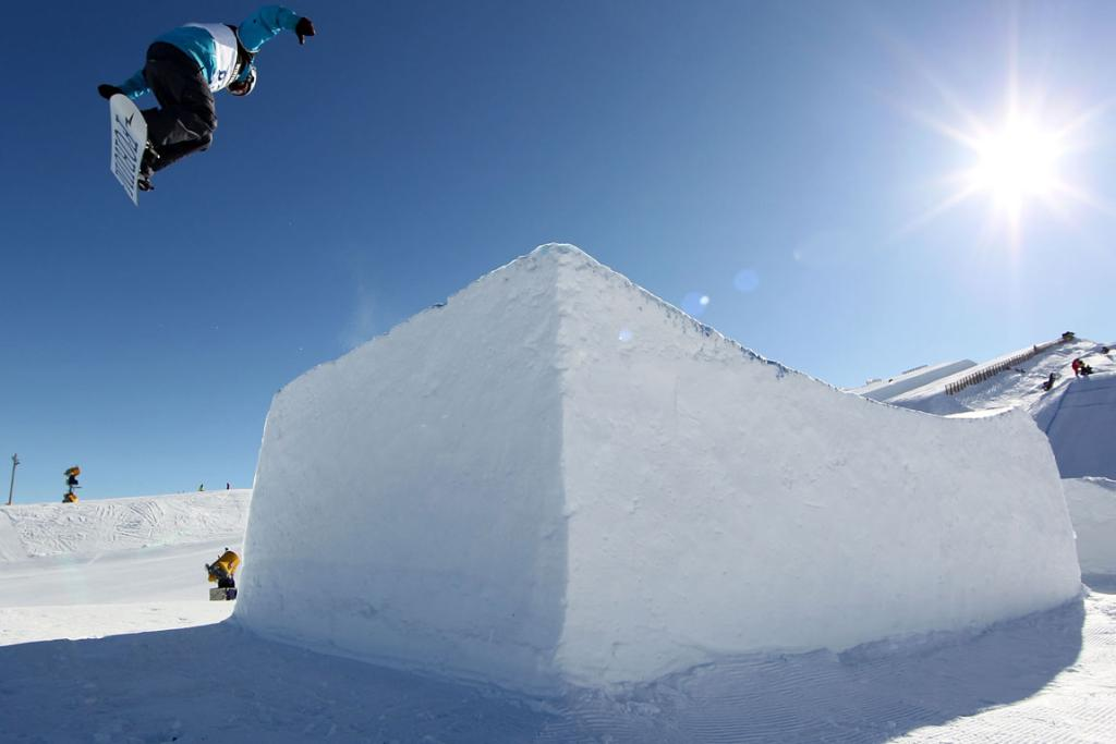 New Zealand's Liam Ryan competes in the Mens Snowboard Slopestyle Qualification during day nine of the Winter Games NZ at Snow Park on August 21, 2011 in Wanaka.