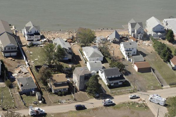 Aftermath of Tropical Storm Irene, in East Haven, Connetticut.