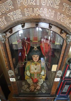 The antique Gypsy fortune teller machine, that sat for decades in this Virginia City restaurant and has received a multimillion dollar offers from curators including magician David Copperfield.