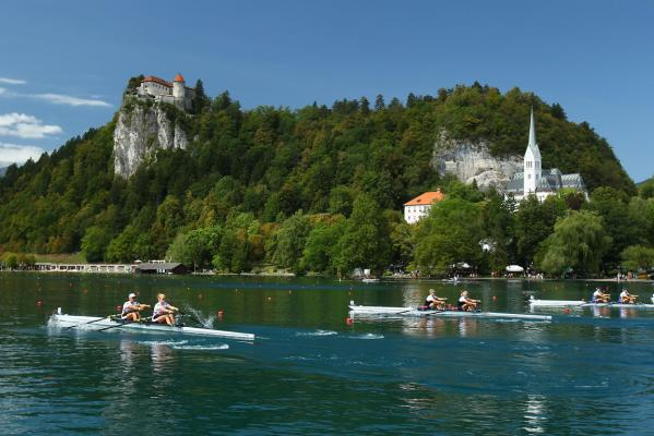 Bled Castle provides a spectacular backdrop to the world rowing championships in Slovenia.