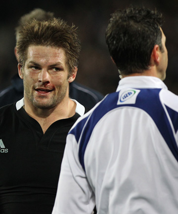 QUESTIONS ASKED: Richie McCaw is often on the legal borderline at the breakdown.