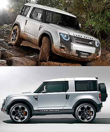 Land Rover DC100 concept, a modern interpretation of the Land Rover Defender, will debut at the 2011 Frankfurt motor show.