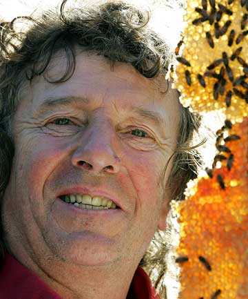 KING BEE: Jacob De Ruiter has kept bees for more than 20 years and believes they thrive best when left alone.