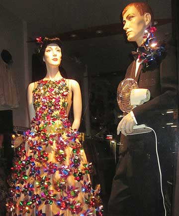 EYE-CATCHER: Vintage clothing boutique store Ziggurat, in Cuba St, was judged WOW's best dressed themed window.
