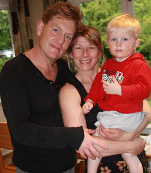 FAMILY LIFE: Rock Wallaby Productions' Mark Strickson with wife Lisa and son Tom.