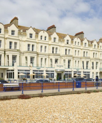 SEA VIEWS: The Majestic Hotel in Eastbourne, England, which has refused to refund the Adendorffs' money.