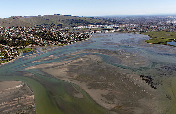 FLOW REDUCTION: The flow of the Avon-Heathcote Estuary has been reduced due to earthquake-related lifting.