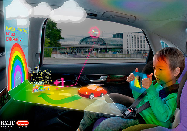END PROGRAM: The projected future of in-car entertainment, as envisioned by an RMIT team.