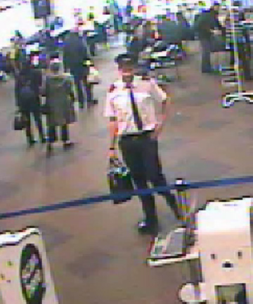 SECURITY CONCERN: Police want to identify this man. He was seen dressed as a pilot at Auckland airport's domestic terminal around 2.30pm on Saturday.