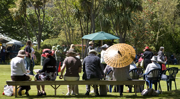 Ladies lunch on the lawn at the Culverden Country Fete.