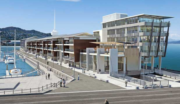 Future Look An Artist S Impression Of The Clyde Quay Wharf A Redevelopment