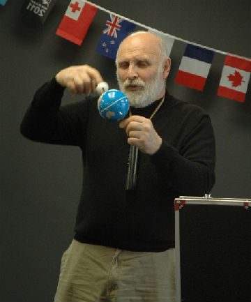 Moon man: Ken Ring spoke at Upper Hutt Library on Monday about his unique weather prediction techniques.