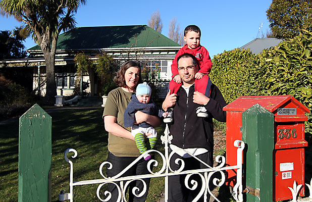 Jen Hay and David Haywood with their children