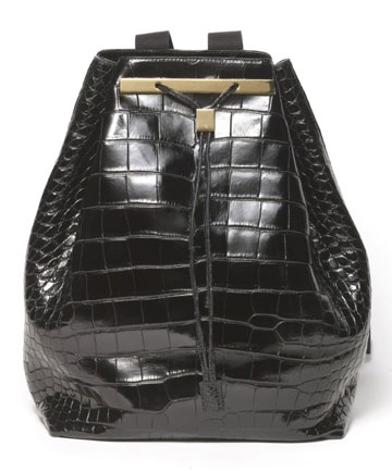 The Row alligator-skin bag