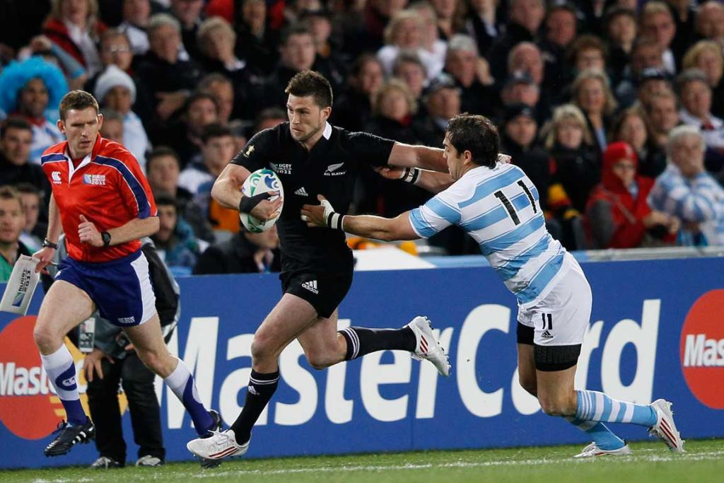 All Black right wing Cory Jane in action.