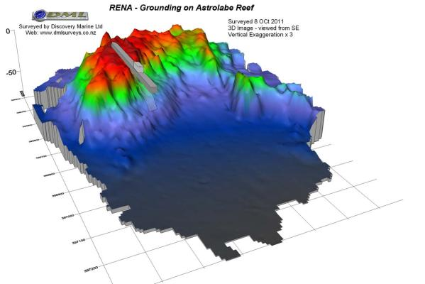 Rena grounded on Astrolabe reef