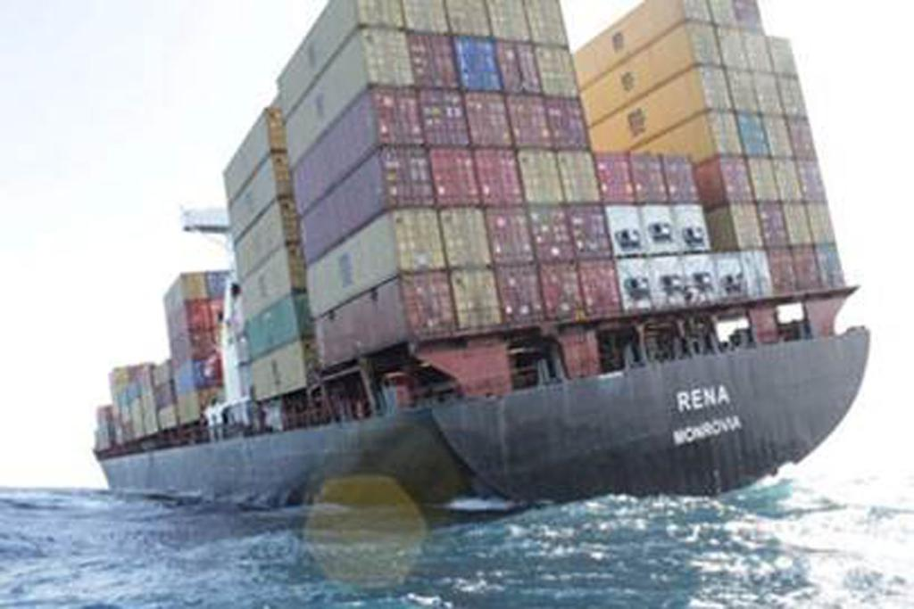 RENA: The ship has 1368 containers on board.