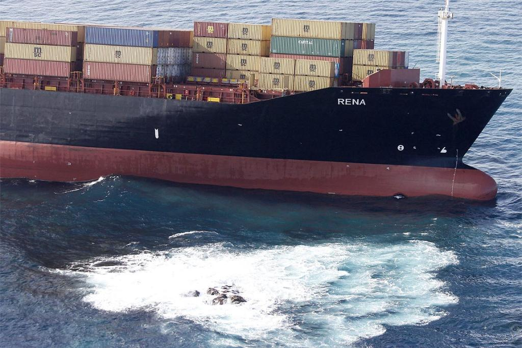 The Rena, a Liberia-flagged 235m vessel, had been heading to Tauranga from Napier when it crashed into the Astrolabe Reef, about 7km north of Motiti Island.