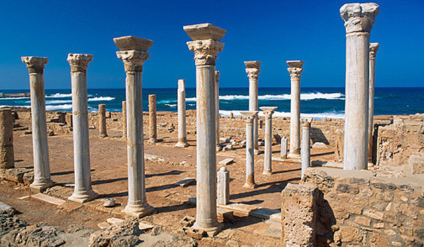 RICH HISTORY: Tourists can wander around Apollonia near the ancient Greek and Roman city of Cyrene, in Sousa city, Eastern Libya.