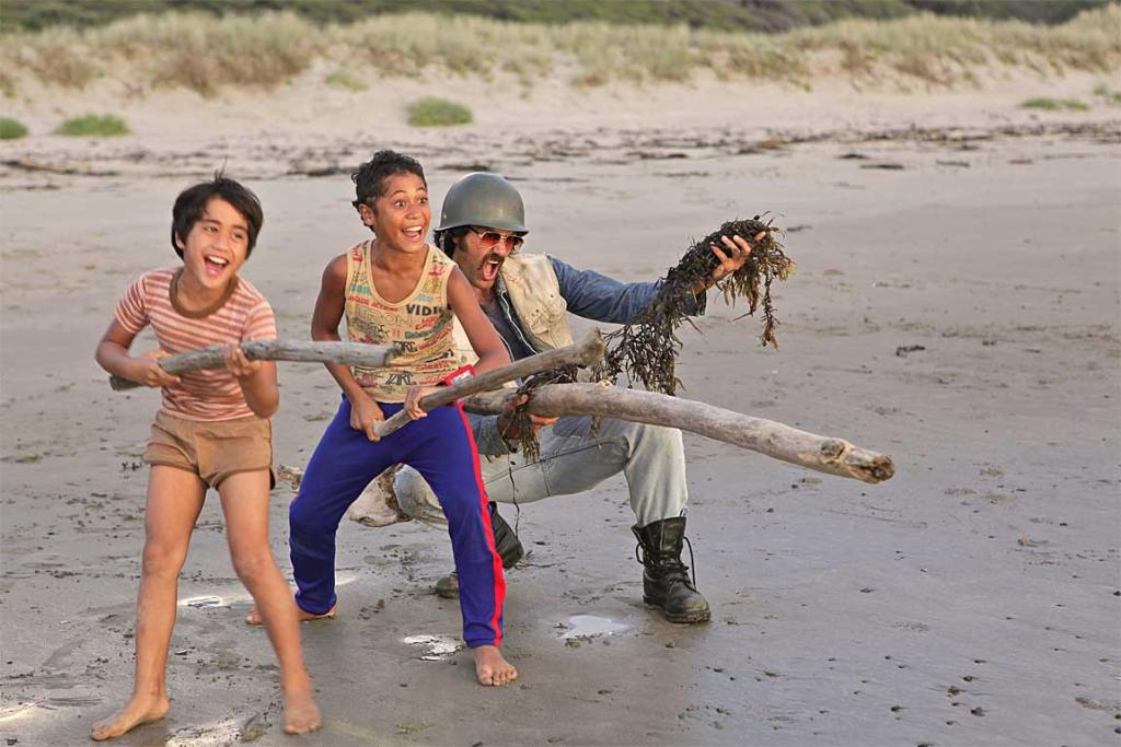 Debris covered in oil have wash-up at Waihau Bay on the East Cape where Taika Waititi's Boy was filmed.