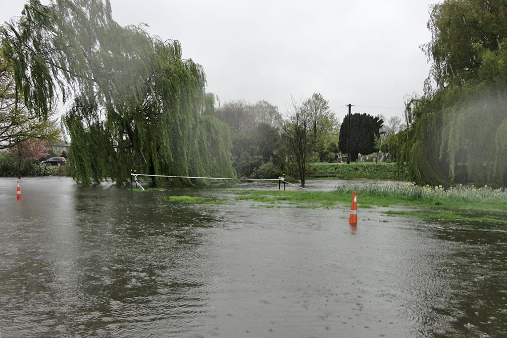 RISING WATERS: Christchurch's Avon River rises after the October 19 deluge.